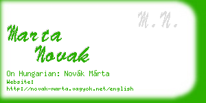 marta novak business card